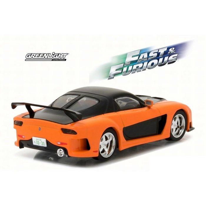 modellauto: fast & furious - tokyo drift: 1997 mazda rx7 1/43