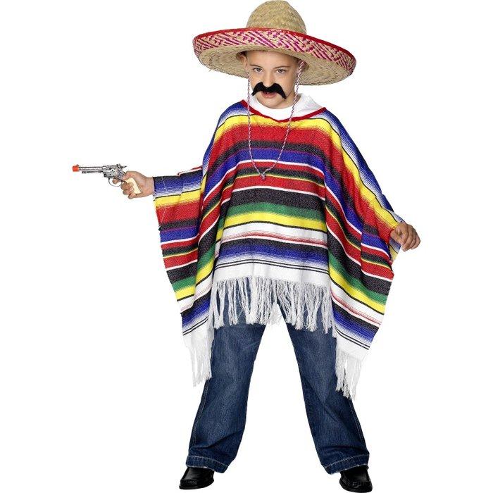 Costume per bambini  Poncho messicano  c336f30e7925