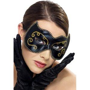 Masque persan, avec effet scintillant et bord tressé