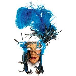 Lady Fiore con Piume Blu Bigia