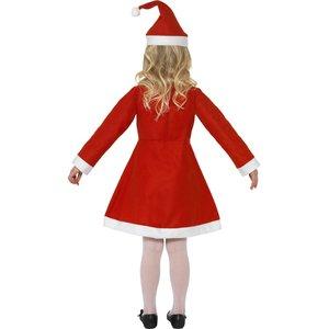 Costume de Mère Noël pour petite fille, Rouge, avec robe et bonnet