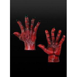 Mains rouges d'un démon - Diable