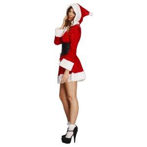 Costume Fever de Santa avec capuche, robe avec, Jupon attachés, capuche et ceintu