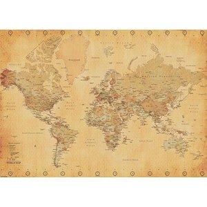 Weltkarte (worldmap Vintage Style)