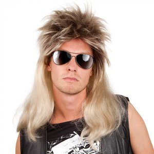 80er Jahre Vokuhila - Rocker