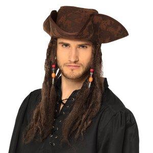 Piratenhut mit Rastalocken