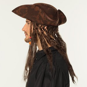 Chapeau Pirate avec Tresses Rastas