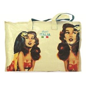 That's Italia - Shopping Tasche: Frau mit Papagei