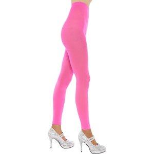 Legging opaque, rose fluo