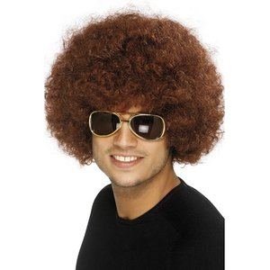 70er Jahre - Funky Afro Braun