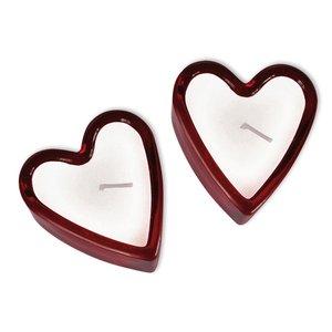 Kerzen in Herzglas