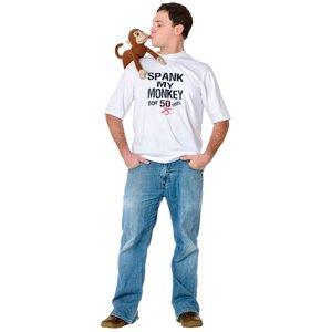 T-Shirt - Affe - Spank My Monkey
