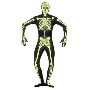 Second Skin - Skelett Glow in the Dark