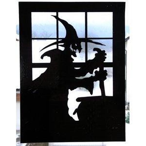 Fensterdeko Hexenkessel