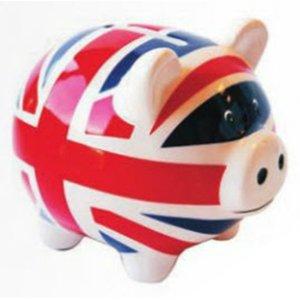 London Union Jack - Sparschwein