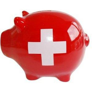 Schweizer Kreuz - Sparschwein
