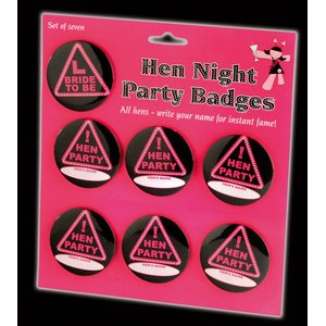 Polterabend: Name Pins - Hen Party