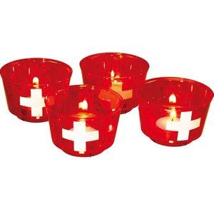 Schweizer Kreuz / 1. August - 4er Set