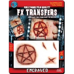 Pentagramm Brand-Mal - 3D Tattoo