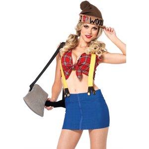 Sexy Holzfällerin