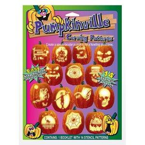 Halloween: Kürbis-Schnitzschablonen - Englisch