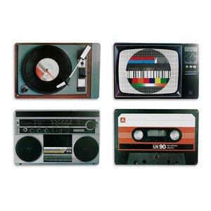 Nostalgia Audio Equipment - Retro Style (4 Pezzi)