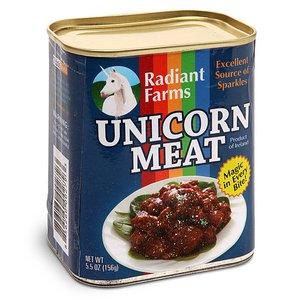 Carne del unicorno in scatola di conserva