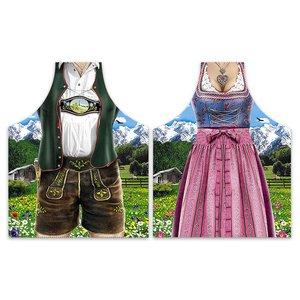 Costume bavarois - Dirndl & Pantalon (2 Pièces)