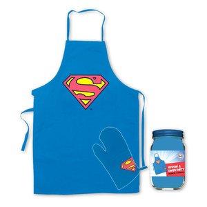 Superman: Grillschürze und Ofenhandschuh - Logo