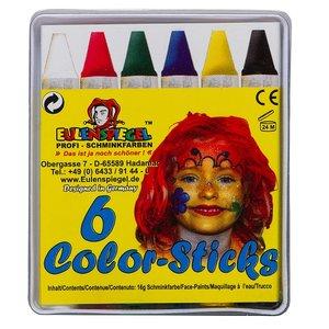 Color-Sticks - 6 Stück Schminkstifte