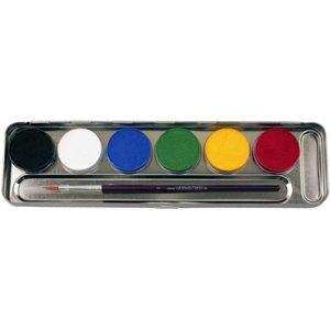 6 Farben Metall-Palette - Malkasten