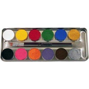 12 Farben Metall-Palette - Malkasten
