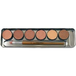 6 Hautfarben Metall-Palette - Malkasten