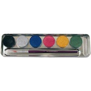 6 Perlglanz-Farben Metall-Palette - Malkasten