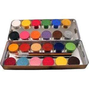 24 Farben Metall-Palette - Malkasten