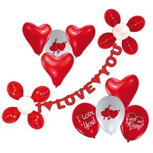 Ballons mit Girlande - I Love You