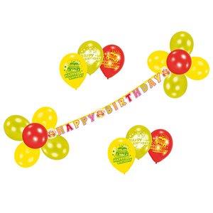 Geburstag - Ballons mit Girlande