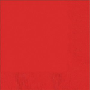 rouge - Set de 20 (33 x 33 cm)