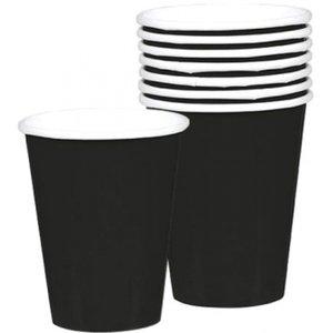 Geburtstagsparty / Gartenparty - 8er Set (schwarz)