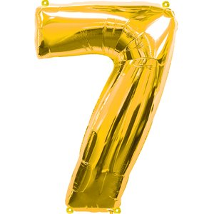 Geburtstagsparty Dekoration - Zahl 7