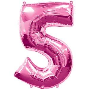 Geburtstagsparty / Jubiläum - Zahl 5 (rosa)