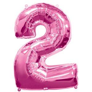 Geburtstagsparty / Jubiläum - Zahl 2 (rosa)