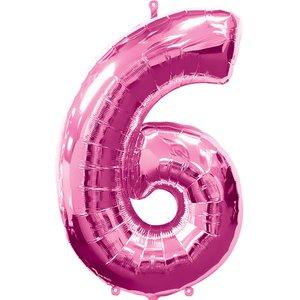 Geburtstagsparty / Jubiläum - Zahl 6 (rosa)