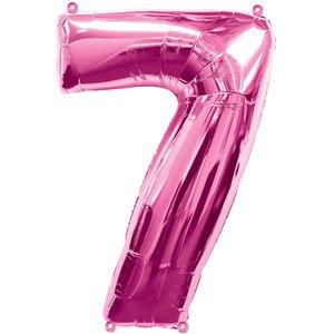Geburtstagsparty / Jubiläum - Zahl 7 (rosa)