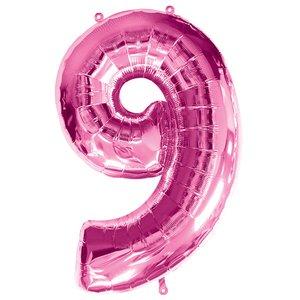 Geburtstagsparty / Jubiläum - Zahl 9 (rosa)