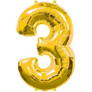 Geburtstagsparty Dekoration - Zahl 3
