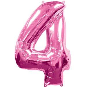 Geburtstagsparty / Jubiläum - Zahl 4 (rosa)