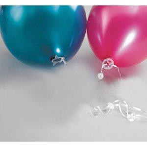 Ballon: Polybänder mit Verschlüssen - 100er Set