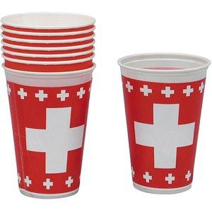 Schweizer Kreuz - 1. August (8er Set)