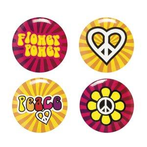 Flower Power Hippie - 4er Set